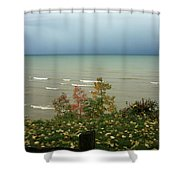 A Storm Is Brewing Shower Curtain by Kathy DesJardins