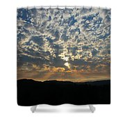 A Storm Is Coming Shower Curtain
