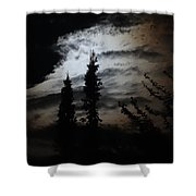 A Storm's Comin Shower Curtain