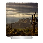 A Stormy Evening In The Superstitions  Shower Curtain