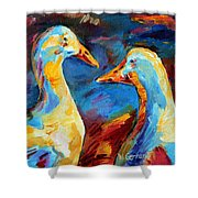 A Stormy Night Shower Curtain