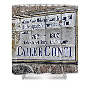 A Street Called Conti Shower Curtain