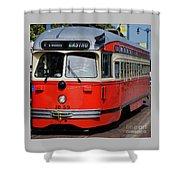 A Street Car Named Castro Shower Curtain