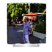 A Street Entertainer In The Hollywood Section Of Universal Studios Shower Curtain