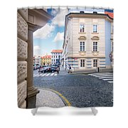 A Street In Prague Shower Curtain