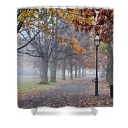 A Stroll In Salem Fog Shower Curtain