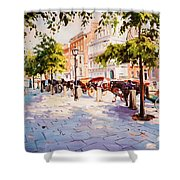 A Stroll On Stephens Green Shower Curtain