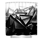 A Structure Rises Shower Curtain