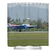 A Sukhoi Su-27 Flanker Of The Russian Shower Curtain