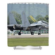 A Sukhoi Su-30mkm Of The Royal Shower Curtain