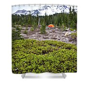 A Summer Day Camping At The Foot Of Mt Shower Curtain