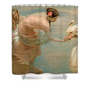 A Summer Morning Shower Curtain