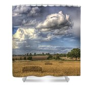 A Summers Evening Farm Shower Curtain