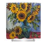 A Sunflower Day Shower Curtain