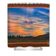 A Surprise Sunset Visit Landscape Painting Shower Curtain