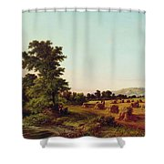 A Surrey Cornfield Shower Curtain by Walter Williams