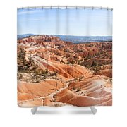 A Sweeping Vista At Bryce Canyon  Shower Curtain
