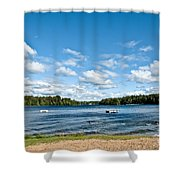 A Swim In The Lake Shower Curtain