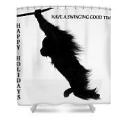 A Swinging Good Time Shower Curtain