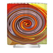 A Swirl Of Colors From The Sun And Earth Shower Curtain