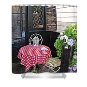 A Table For Two Shower Curtain