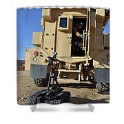 A Talon Mark 2 Bomb Disposal Robot Shower Curtain
