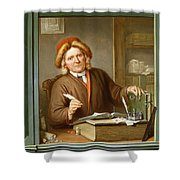 A Tax Collector, 1745 Shower Curtain by Tibout Regters