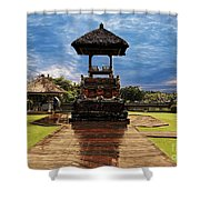A Temple Shower Curtain