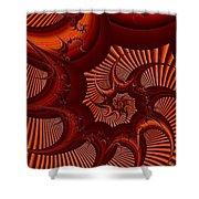 A Thorny Swirl Shower Curtain