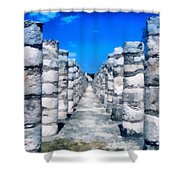 A Thousand Columns Shower Curtain