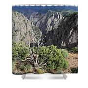 A Thunderstorm Is Approaching Over The Black Canyon Shower Curtain