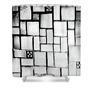 A Tiled Wall Shower Curtain