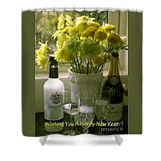 A Toast Of Cheers For The New Year Shower Curtain