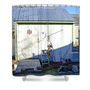 A Tool Shed In The Back Yard Shower Curtain