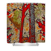 A Touch Of Autumn Abstract V Shower Curtain
