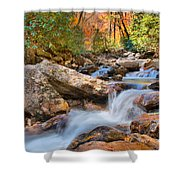 A Touch Of Autumn At Skinny Dip Falls Shower Curtain
