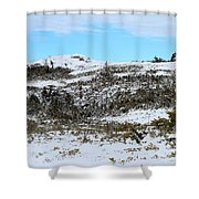 A Touch Of Blue Panorama Shower Curtain
