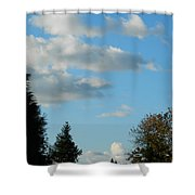 A Touch Of Cloudy Shower Curtain