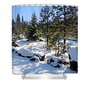 A Touch Of Snow Shower Curtain