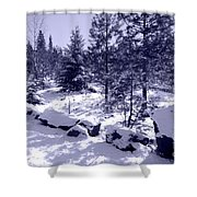 A Touch Of Snow In Lavender Shower Curtain
