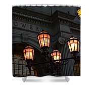 A Tower City Night Shower Curtain