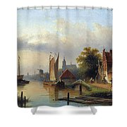 A Town By The River Shower Curtain