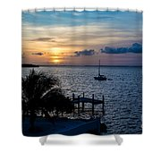 A Tranquil Conquering Of The Night Shower Curtain