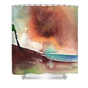 A Tree In Lanzarote Shower Curtain