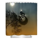 A Tree In The Sky Shower Curtain by Jeff Swan