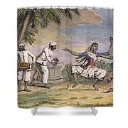 A Troupe Of Bayaderes, Or Indian Shower Curtain by Pierre Sonnerat