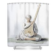 A Tumboora, Musical Instrument Played Shower Curtain