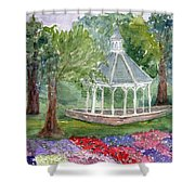 A Turn About The Garden Shower Curtain