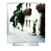 A Tuscan Street Shower Curtain