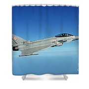 A Typhoon Aircraft From 29 Squadron Royal Air Force Shower Curtain